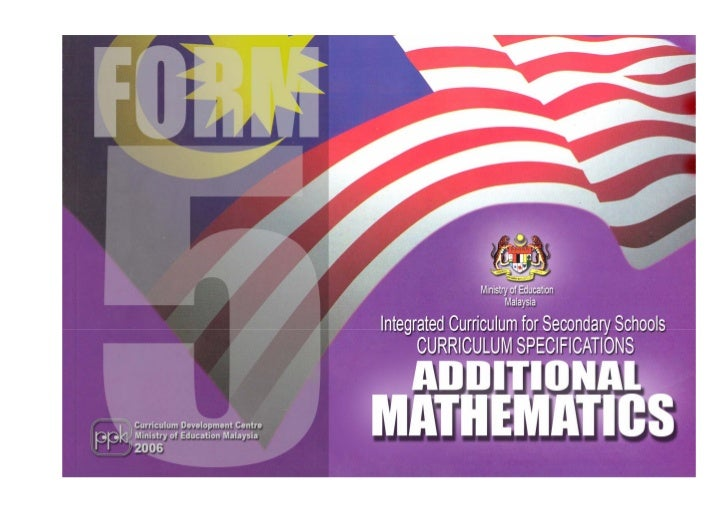 Ministry of Education                      Malaysia    Integrated Curriculum for Secondary Schools        CURRICULUM SPECI...