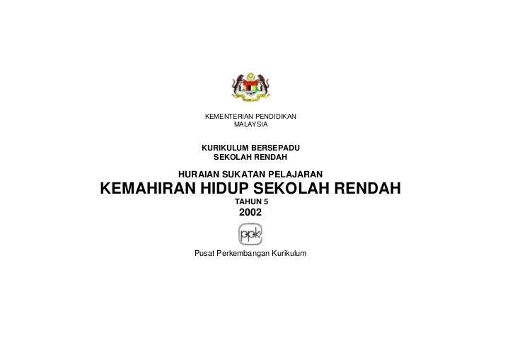 KEMENTERIAN PENDIDIKAN                 MALAYSIA          KURIKULUM BERSEPADU            SEKOLAH RENDAH       HURAIAN SUKAT...