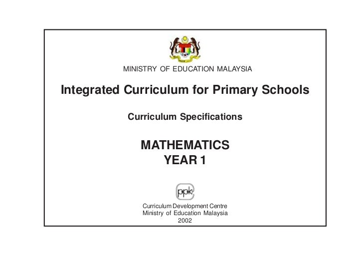 MINISTRY OF EDUCATION MALAYSIAIntegrated Curriculum for Primary Schools           Curriculum Specifications              M...