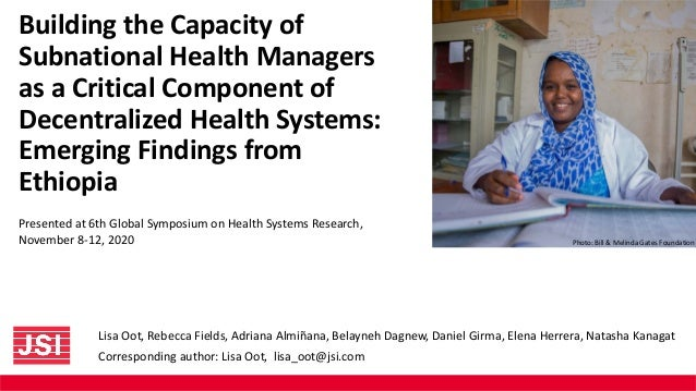 Building the Capacity of Subnational Health Managers as a Critical Component of Decentralized Health Systems: Emerging Fin...
