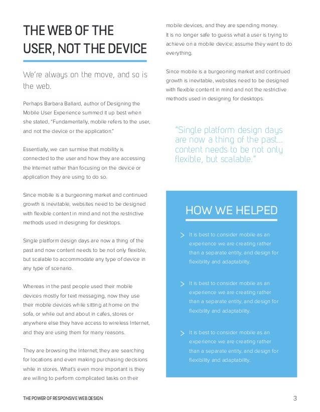 The Power of Responsive Web Design Slide 3