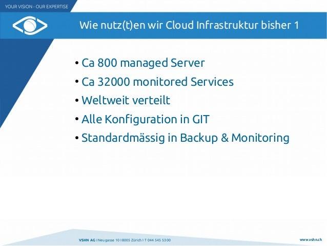 Wie nutzen wir Cloud-Infrastruktur @ VSHN.ch