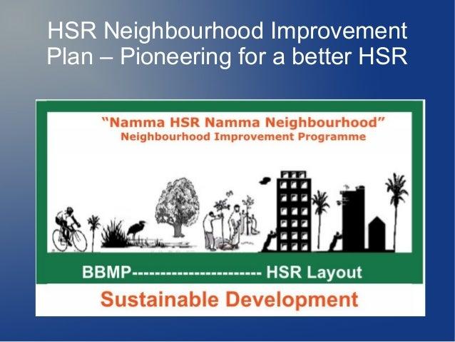 HSR Neighbourhood Improvement Plan – Pioneering for a better HSR