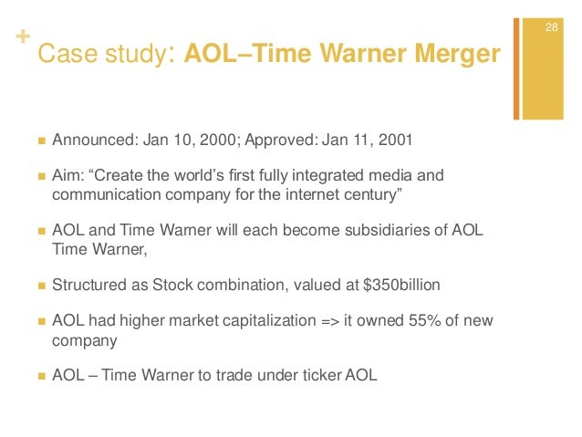 corporate finance - Valuation of M&A - AOL-Time Warner
