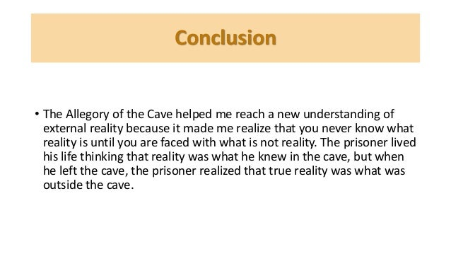allegory of the cave essay conclusion