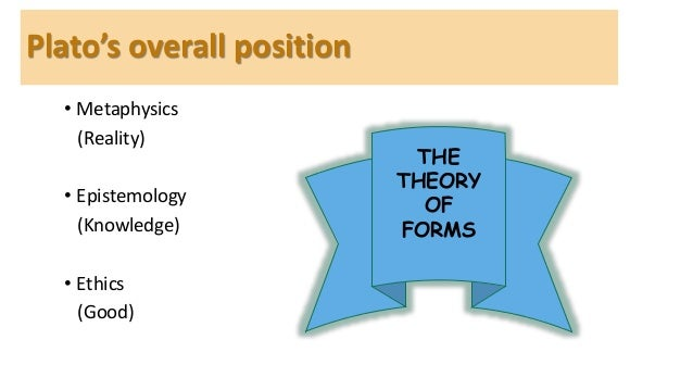 an overview of the theory of forms by plato
