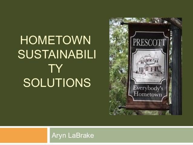 HOMETOWNSUSTAINABILI    TY SOLUTIONS     Aryn LaBrake