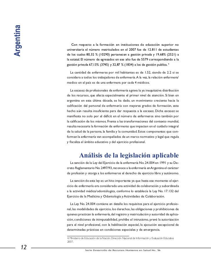 Argentina                               Instancias nacionales para la                                 formulación de polít...