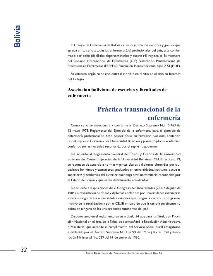 Brasil          Graduadas; el Sistema de Consejo Federal de Enfermería y Consejos Regionales de          Enfermería (COFEN...