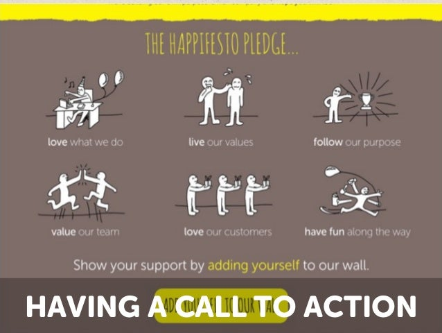 HAVING A CALL TO ACTION