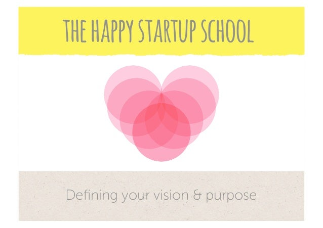the happy startup schoolDefining your vision & purpose