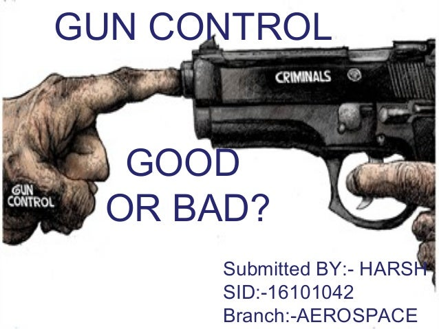Firearms the good and bad use of guns