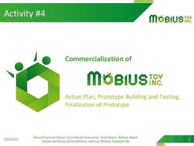 Commercialization of Action Plan, Prototype Building and Testing, Finalization of Prototype 7/25/2013 Harvard Summer Schoo...