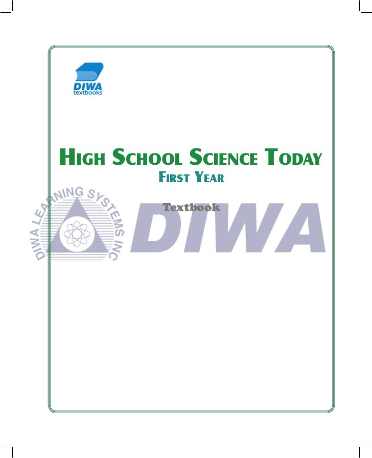 HIGH SCHOOL SCIENCE TODAY         FIRST YEAR         Textbook