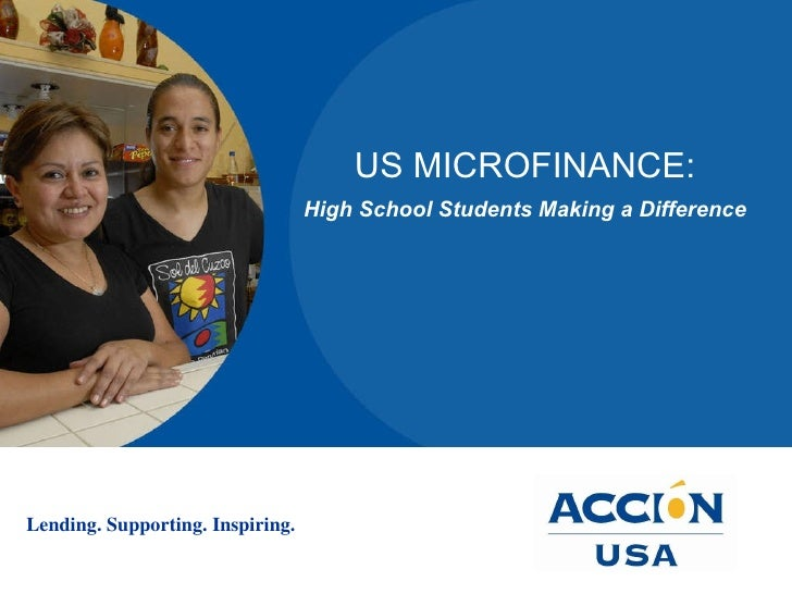 US MICROFINANCE: High School Students Making a Difference