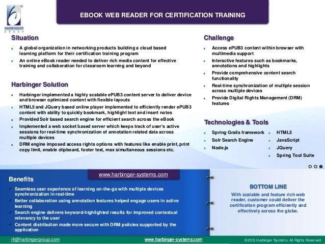 eBook Web Reader For Certification Training Slide 3