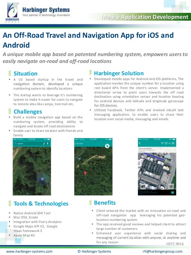Calibri, 20, Bold  Mobile Application Development  An Off-Road Travel and Navigation App for iOS and  Android  A unique mo...