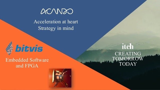 Acceleration at heart Strategy in mind CREATING TOMORROW TODAY Embedded Software and FPGA