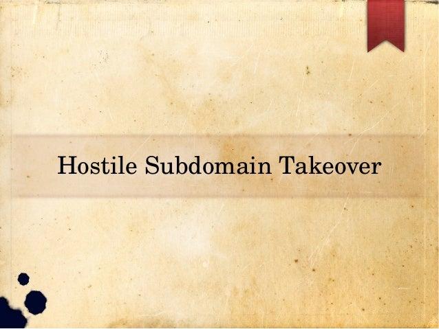 HostileSubdomainTakeover