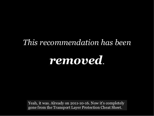 This recommendation has been removed. Yeah, it was. Already on 2011-10-16. Now it's completely gone from the Transport Lay...
