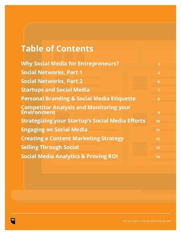 Social Media for Entrepreneurship