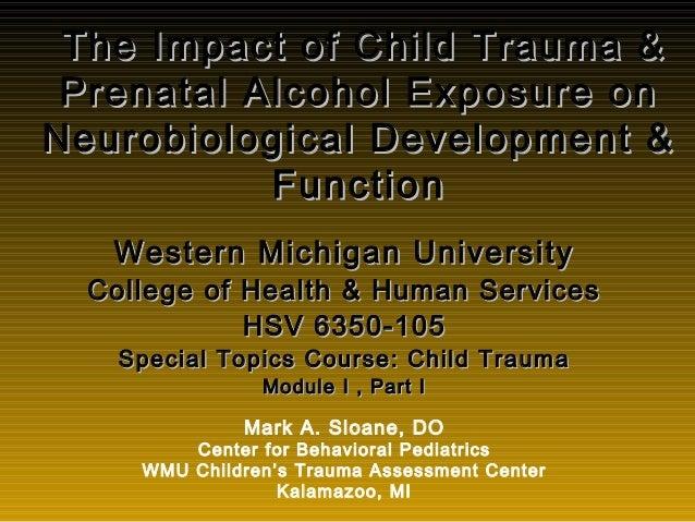 The Impact of Child Trauma &The Impact of Child Trauma & Prenatal Alcohol Exposure onPrenatal Alcohol Exposure on Neurobio...