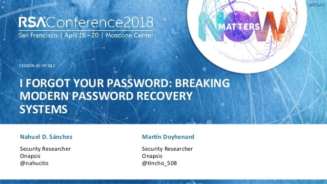 I Forgot Your Password: Breaking Modern Password Recovery