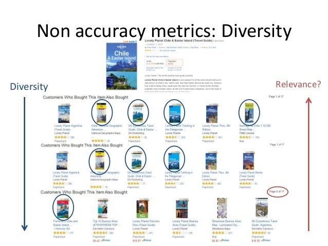 Non accuracy metrics: Diversity  •How to measure diversity? Several proposals:  –Using a distance/dissimilarity function [...