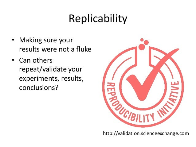 Reproducibility  Why do we need to reproduce?  Because these two are not the same