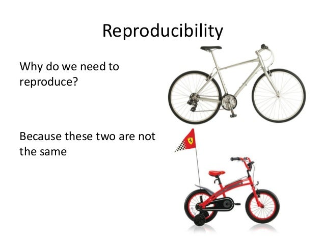 Reproducibility  •In order to ensure that our experiments, settings, and results are:  –Valid  –Generalizable  –Of use for...