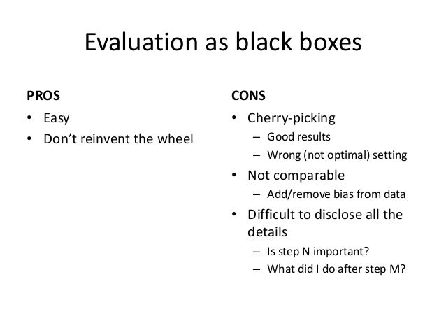 """Some problems with """"black boxes""""  •What do you do when a recommender cannot predict a score?  –This has an impact on cover..."""