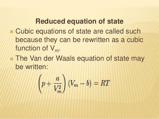 van der waals equation a and b values pdf
