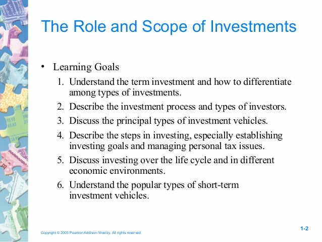 6 different investment vehicles