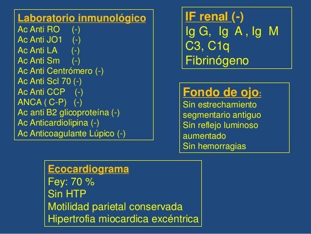 •Pulmones expandidos •Opacidades reticulares intersticiales en bases y campos medios •Leves dilataciones bronquiales cilín...