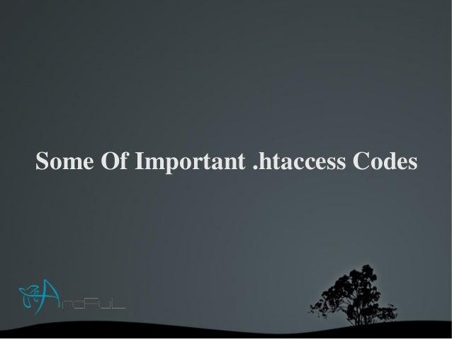 SomeOfImportant.htaccessCodes