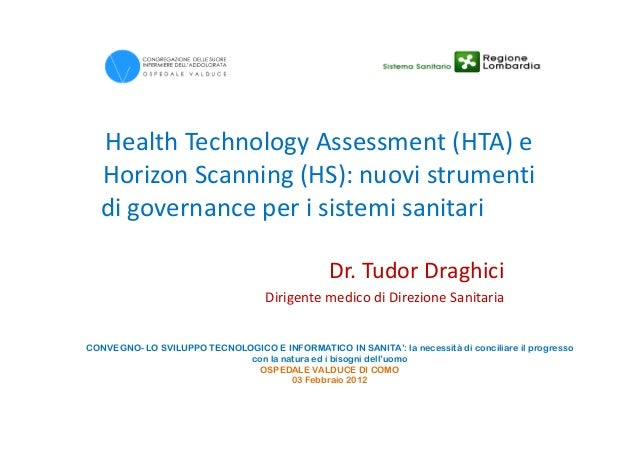 Health technology assessment. Principi, dimensioni e ...