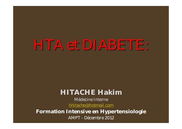 dr hitache   hta et diabete de type 2