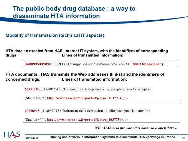 Making use of various information systems to disseminate HTA knowledg…