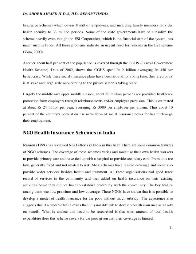 STATUS OF HEALTH TECHNOLOGY ESSMENT IN INDIA (2010) on