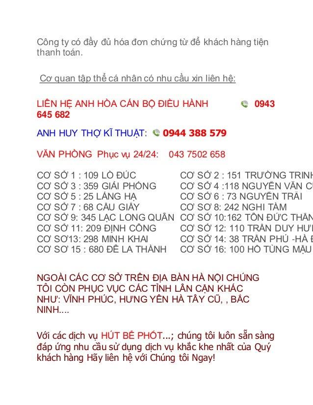 Hút bể phốt Ninh Bình - Hut be phot, Hút bể phốt BK 0944 Slide 3