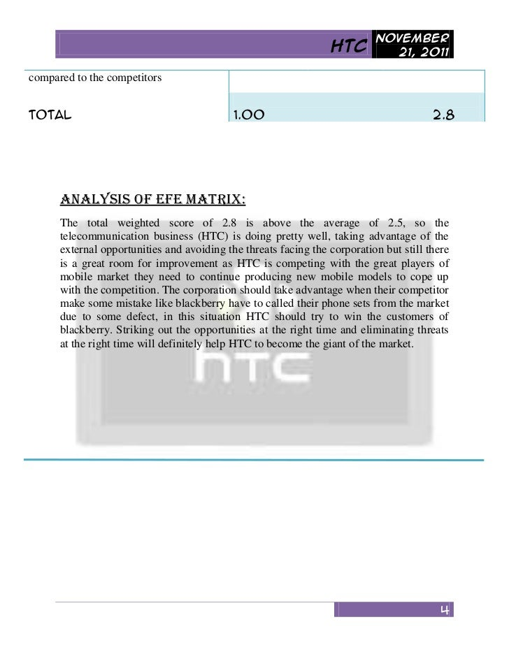 Competitor analysis of htc
