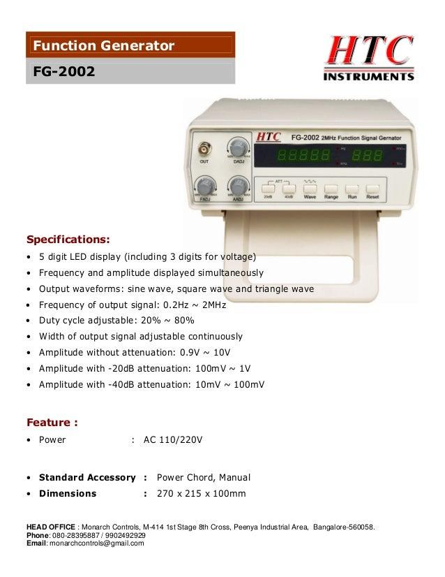 htc function generator fg 2002 rh slideshare net iec f34 function generator manual 33220a function generator manual