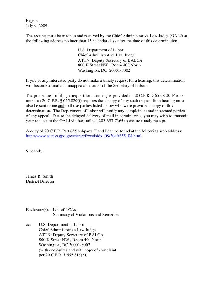 Htc Global Services Us Dol Determination Letter