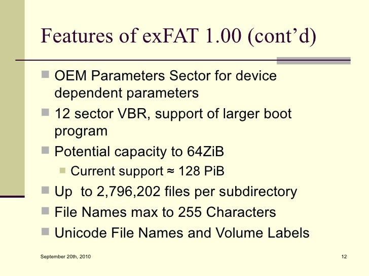 Extended Fat File System 78