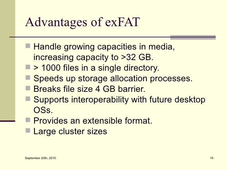 Demystifying the Microsoft Extended FAT File System (exFAT)