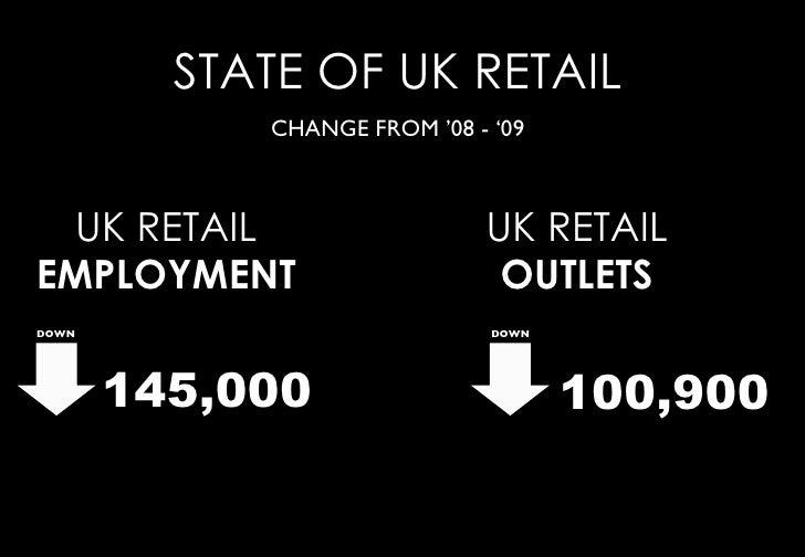 STATE OF UK RETAIL             CHANGE FROM '08 - '09      UK RETAIL                  UK RETAIL EMPLOYMENT                 ...