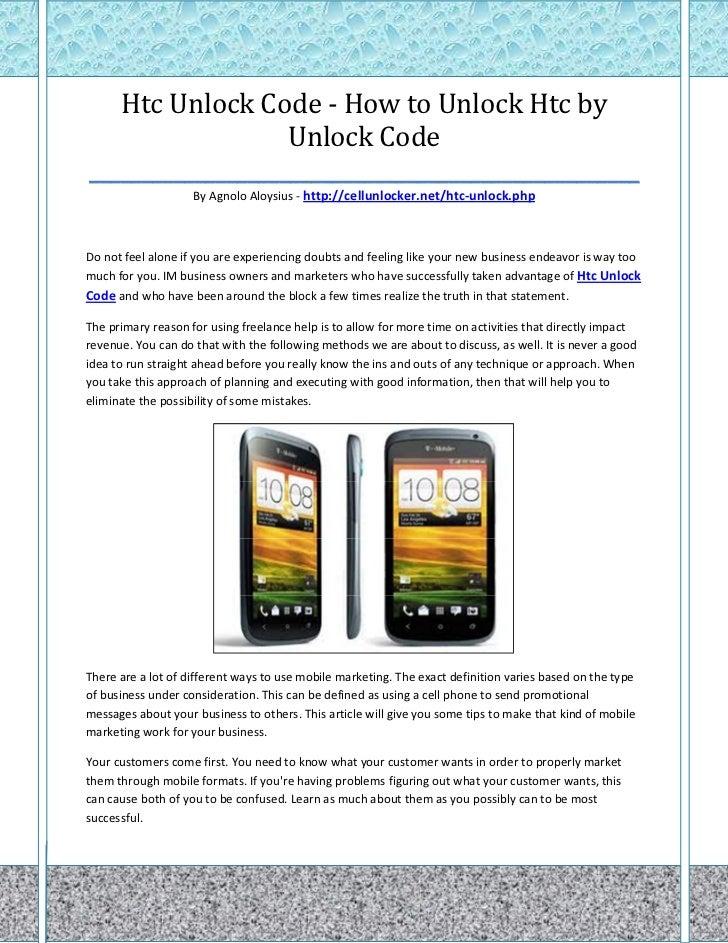 Htc Unlock Code - How to Unlock Htc by                   Unlock Code____________________________________________________  ...