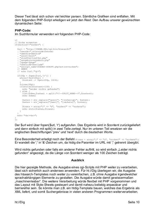Dieser Text lässt sich schon viel leichter parsen. Sämtliche Grafiken sind entfallen. Mit  dem folgenden PHP-Script erledi...