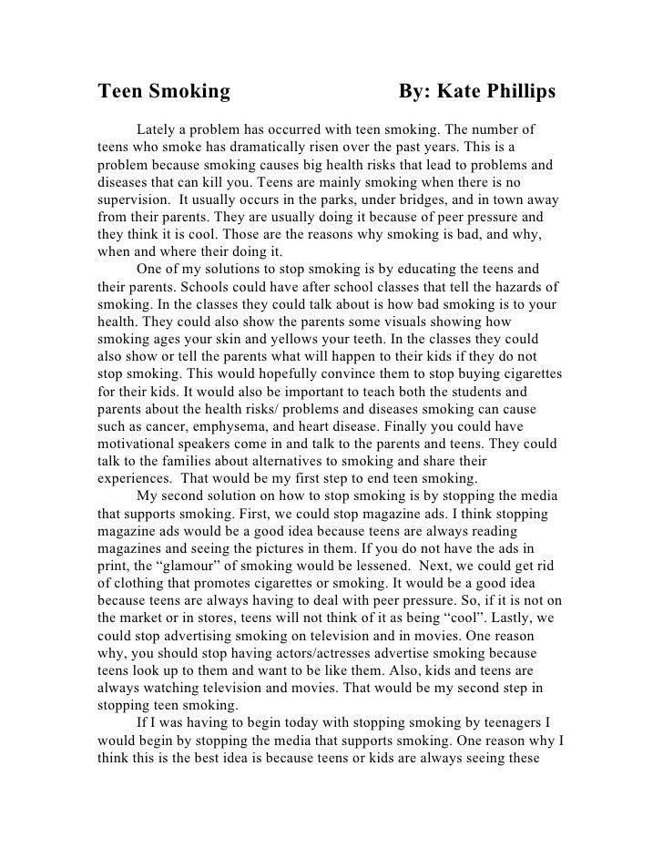 smoking problems essay