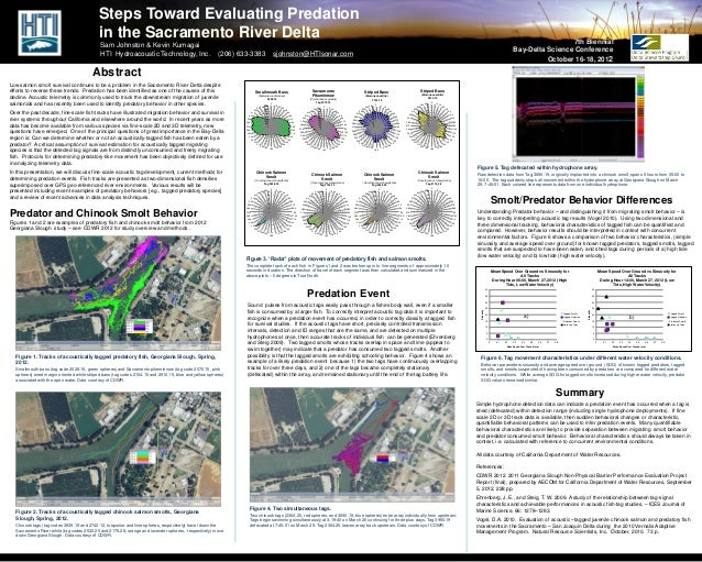 Steps Toward Evaluating Predation                                           in the Sacramento River Delta                 ...